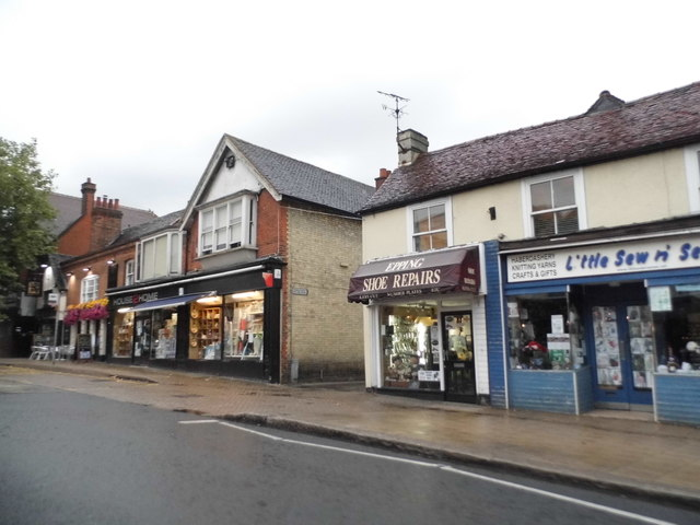 Shops on High Street Epping