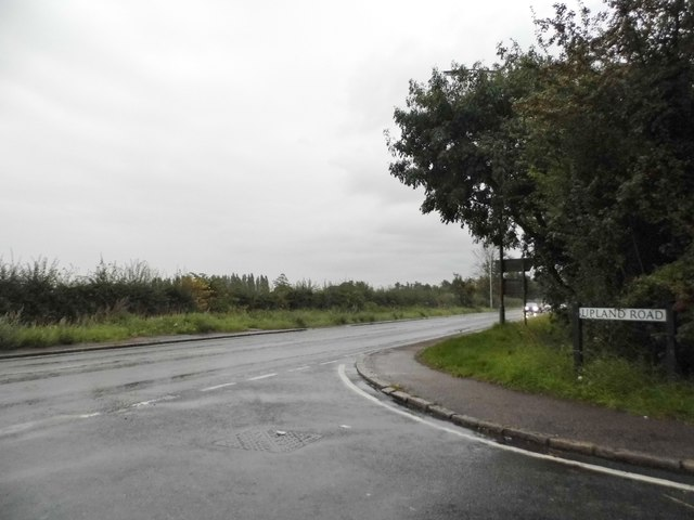 Upland Road at the junction of High Road Thornwood Common