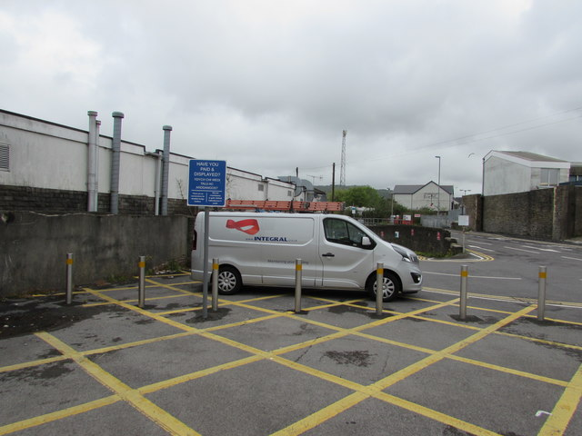 Northern end of Milland Road Car Park, Neath