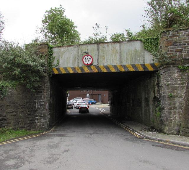 Low bridge near Neath railway station