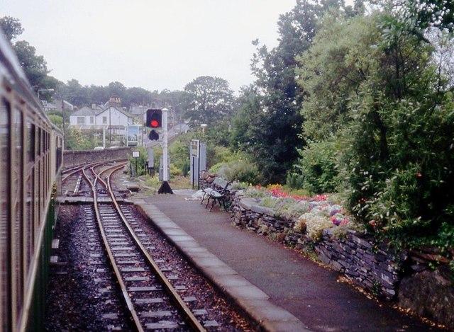 Minffordd Station platform