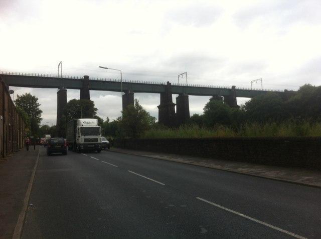 Rail Bridge at Dinting Vale