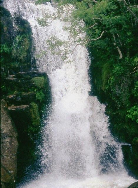 Waterfall rushing to Tanygrisiau Reservoir