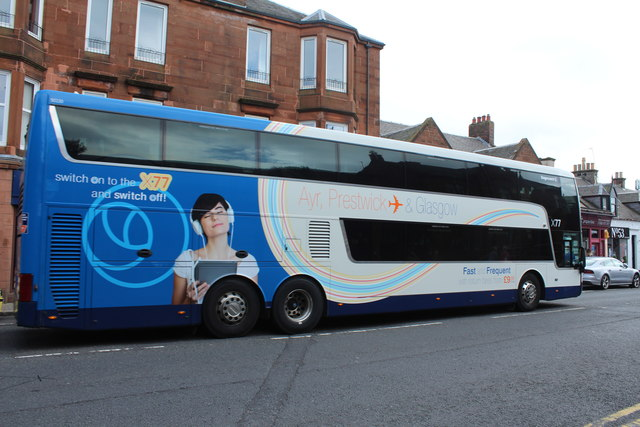 Stagecoach Bus at Prestwick Cross