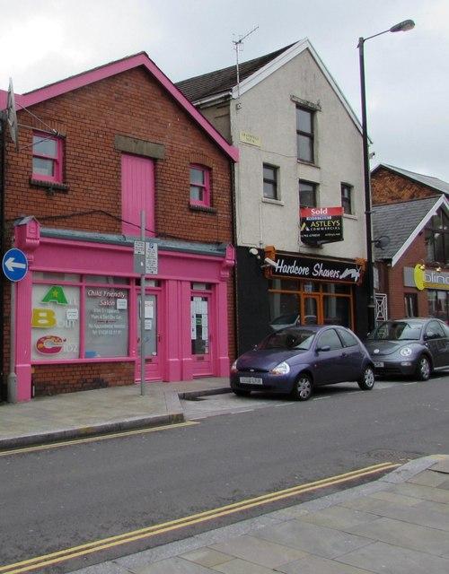 Pink premises, Croft Road, Neath