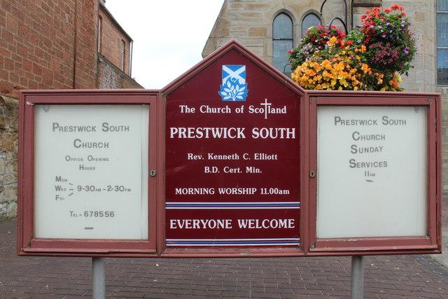 Prestwick South Notice Board