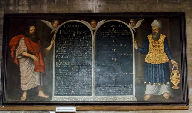 Commandment board painting, St Mary's church, Horncastle