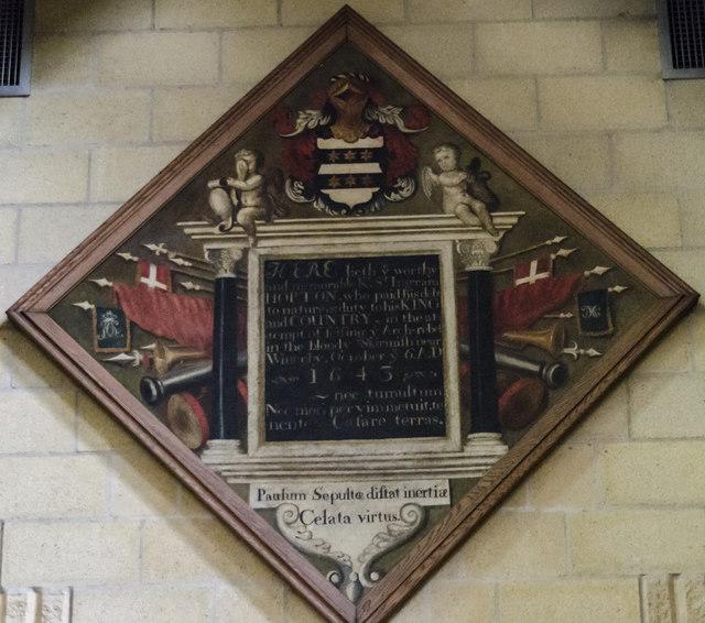 Memorial to Sir Ingram Hopton, Horncastle  church