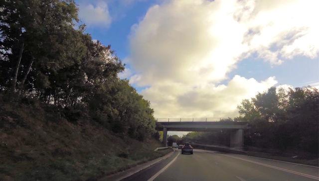 Overbridge over A487 near Garreg Goch