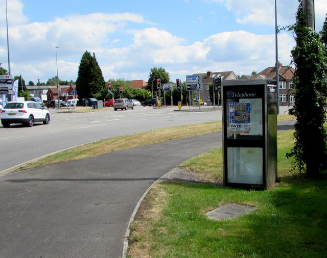 No longer a phone box, Stover Road, Yate