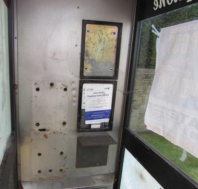 Empty phonebox, Stover Road, Yate