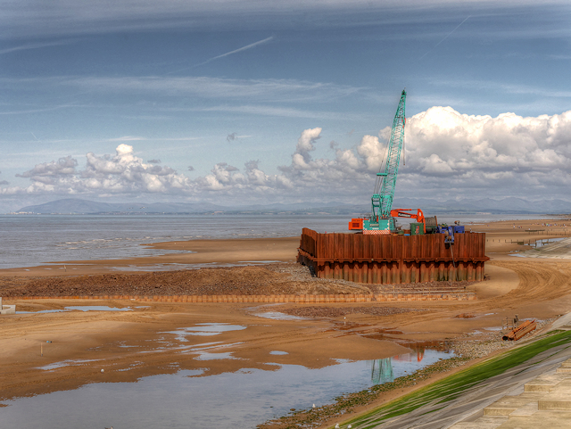 Sewer Construction Work on Anchorsholme Beach