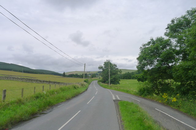 The Southern Upland Way on the B709