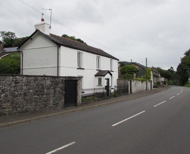 White house, Crickhowell Road, Gilwern