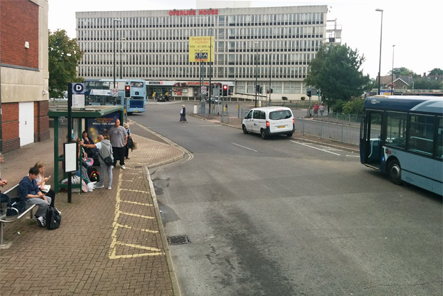 Bus stop D, Crawley bus station