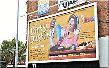 """J3674 : """"Dirty Dusting"""" poster, Belfast (August 2017) by Albert Bridge"""