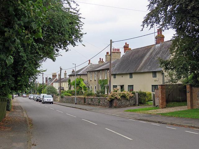 Cheveley: down High Street
