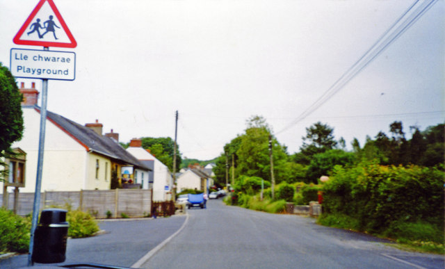 Llanfalteg: near site of former station, 2003