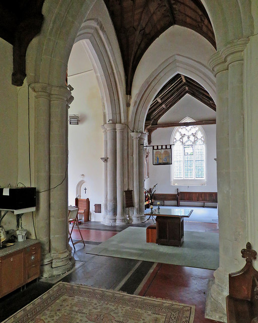 Cheveley church: transepts and crossing