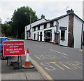 SO2414 : Road ahead closed, Main Road, Gilwern by Jaggery