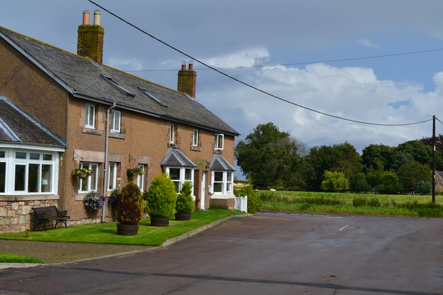 Houses next to the Memorial Hall, Ancroft