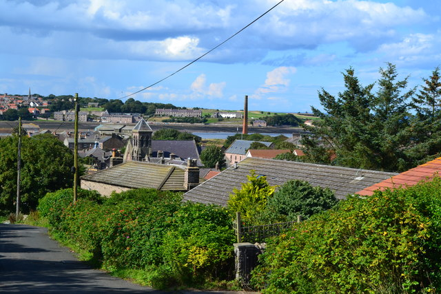 View over Spittal from Albert Road