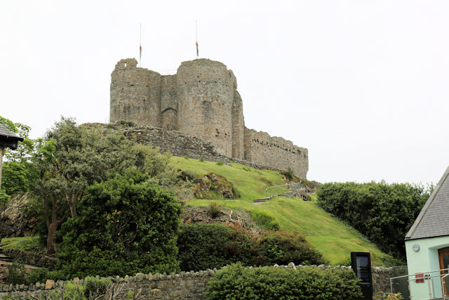 Criccieth Castle from Castle Street