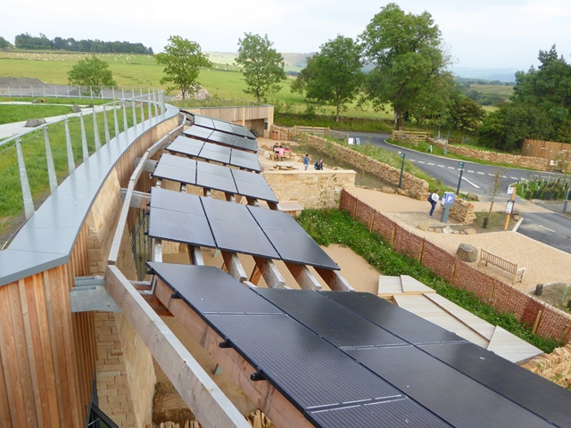 Solar panels at the Sill
