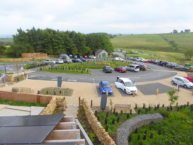 The car park at the Sill