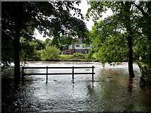 H4772 : Camowen River in flood near Cranny by Kenneth  Allen