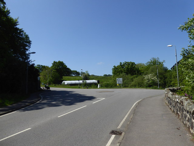 Roundabout to the south of Tobermory
