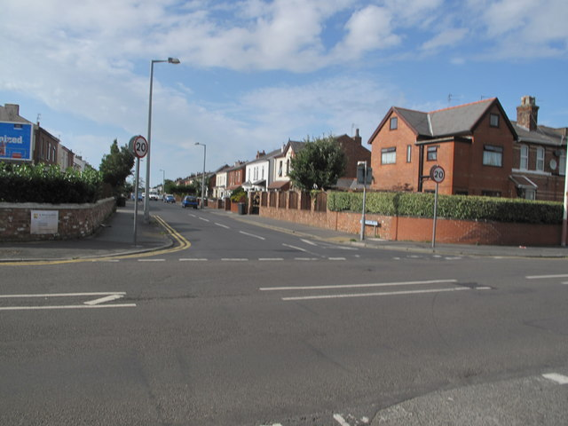 Upper Aughton Road, leading to Southport