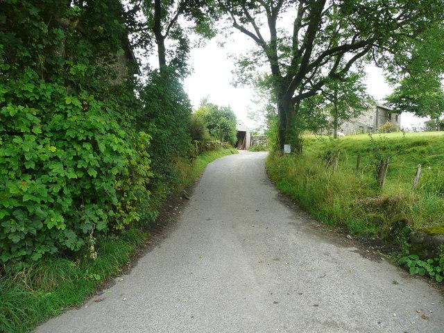Todmanshaw Lane at Cow Bridge End, Wigglesworth