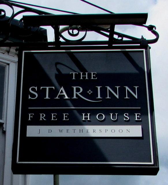 Star Inn name sign, Honiton