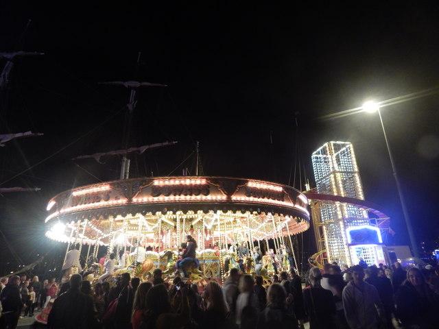 Funfair at Ipswich Maritime Festival