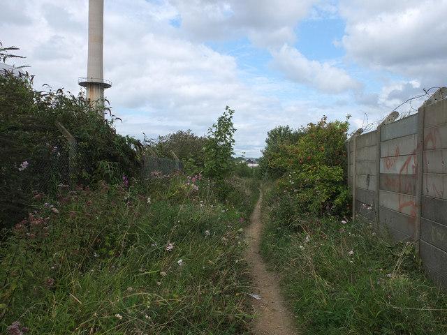Sutton Heath Road (track) leading to Burton Head Road