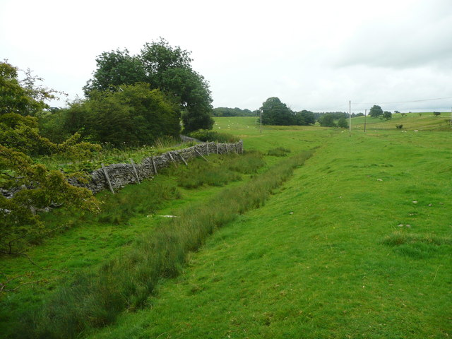 Land drainage channel alongside Flat Lane, Long Preston