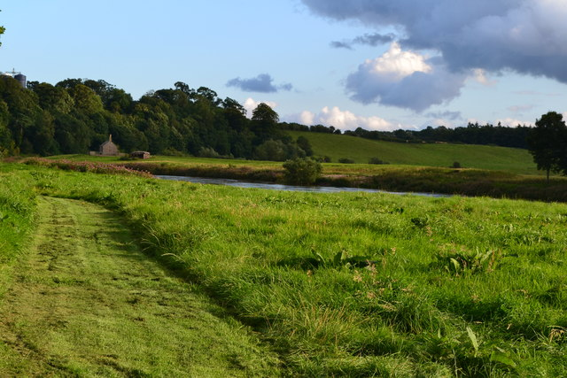 In the Tweed valley west of Norham