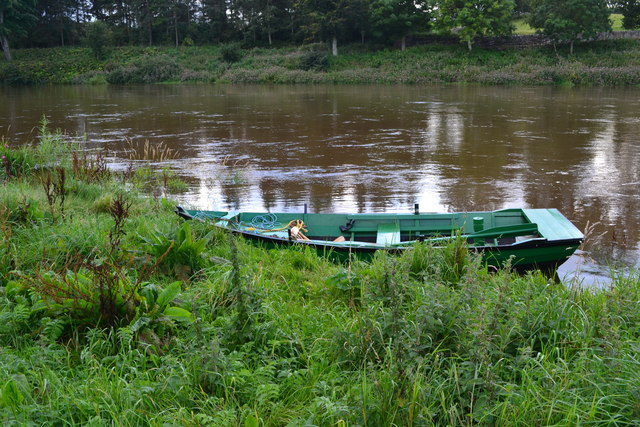 Boat moored on the Tweed