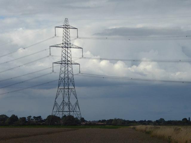Pylon near a storm