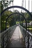 NN9357 : The Sandeman Suspension Bridge by Richard Webb