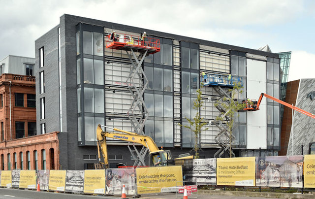Former Harland & Wolff offices, Belfast (August 2017)
