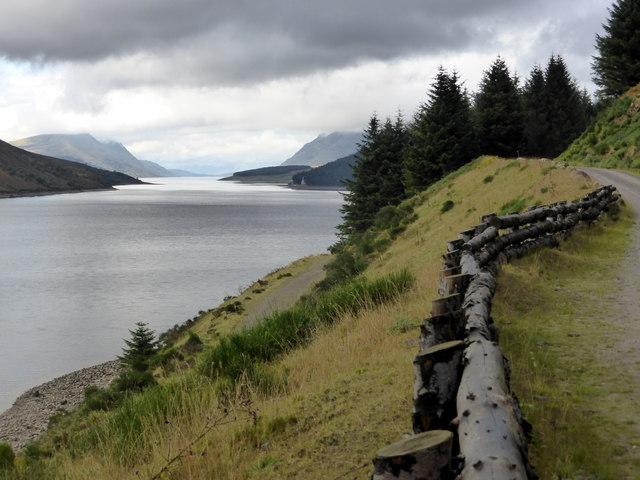 The track beside Loch Ericht