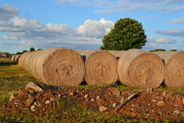 Straw bales at former Winfield Airfield