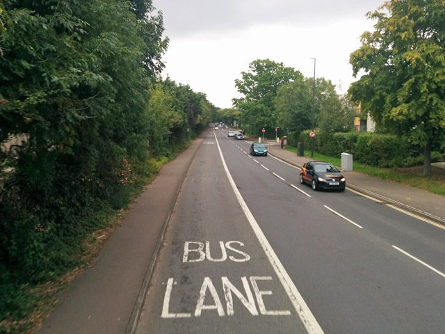 Bus lane, Haslett Avenue East, Crawley