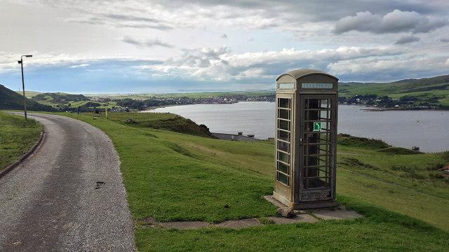 Emergency Telephone above Campbeltown Loch