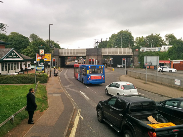 Traffic by Three Bridges station
