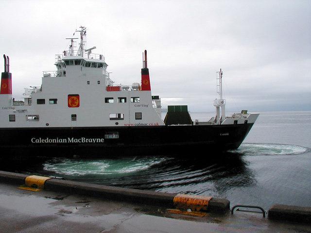 Calmac 'Coruisk' berthing at Armadale