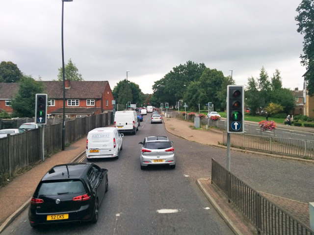 Junction of Haslett Avenue East and Station Hill, Crawley