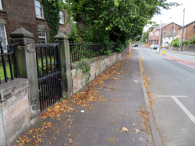 Damfield Road, Maghull and a bench mark